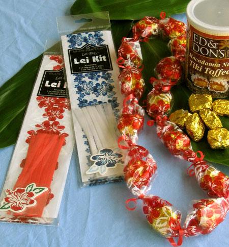candy lei kit - DIY