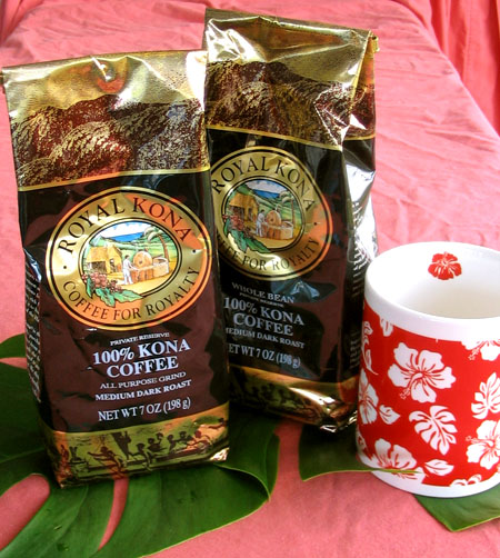 100% Kona coffee in 7 oz bags