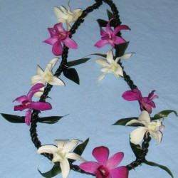 ti.leaf.lei.with.orchids