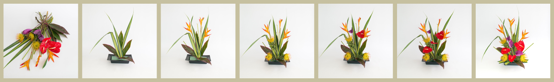 DIY.tropical.centerpiece