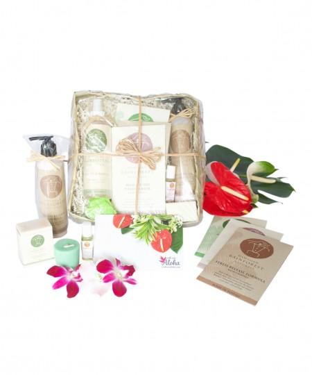 Hawaiian spa gift basket deluxe