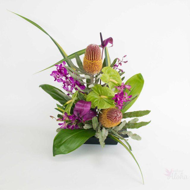 hawaiian sweetheart flower arrangement - With Our Aloha