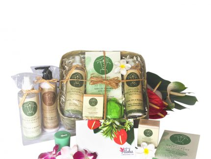 Hawaiian Spa Gift Basket lotion, soaps natural