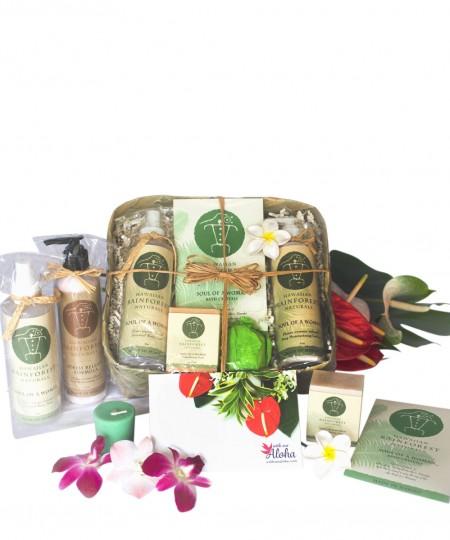 Hawaiian Spa Gift Basket lotion, soaps natural