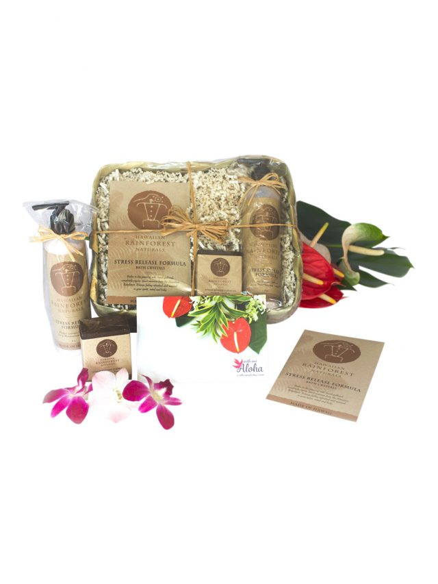 Natural stress release spa basket