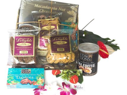 Hawaiian chocolates gifts basket