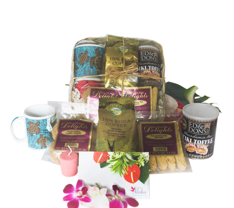 100% Kona Coffee Lover's Hawaiian Gift Bag