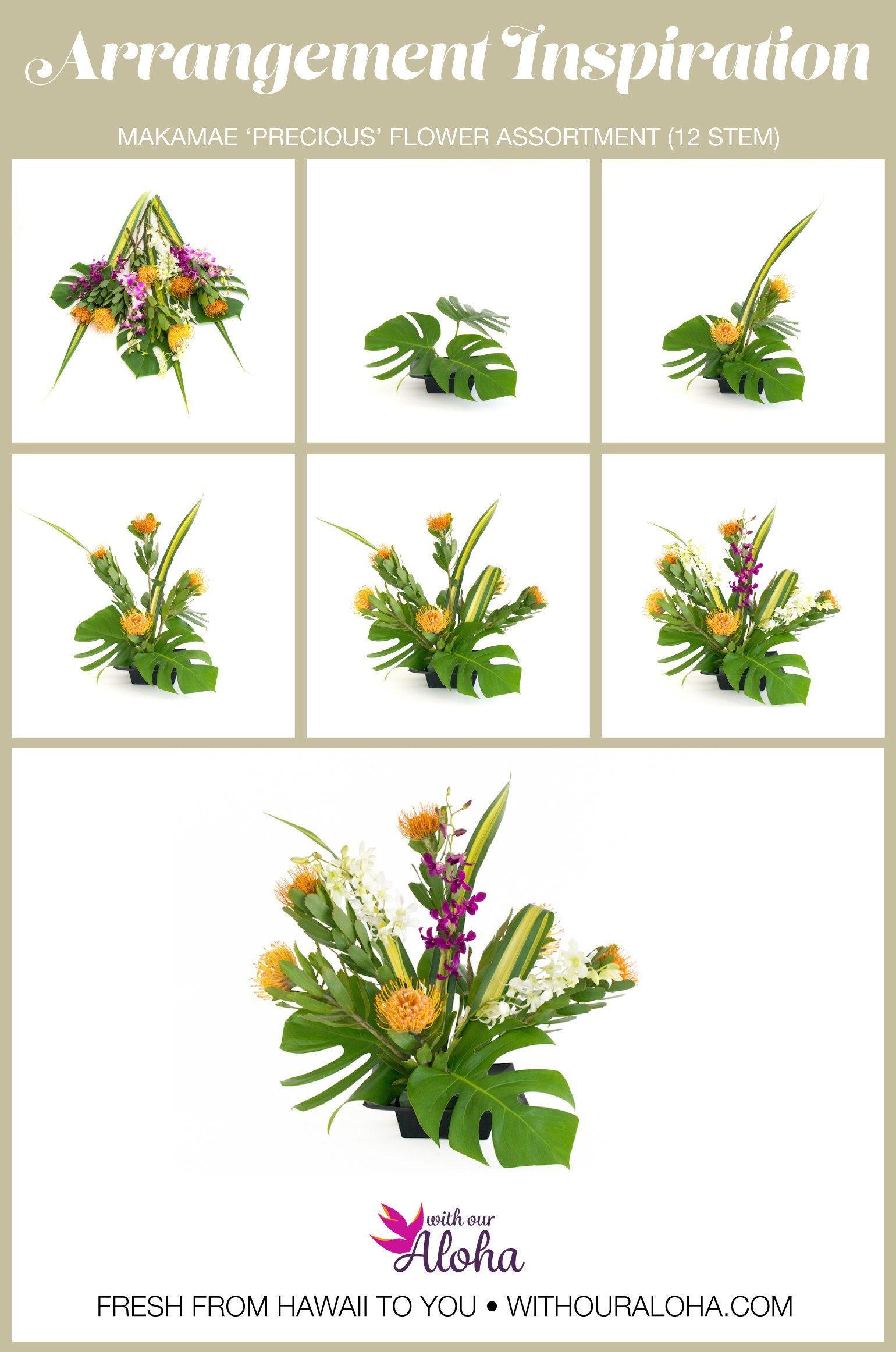 How to arrange Hawaiian flowers January - With Our Aloha