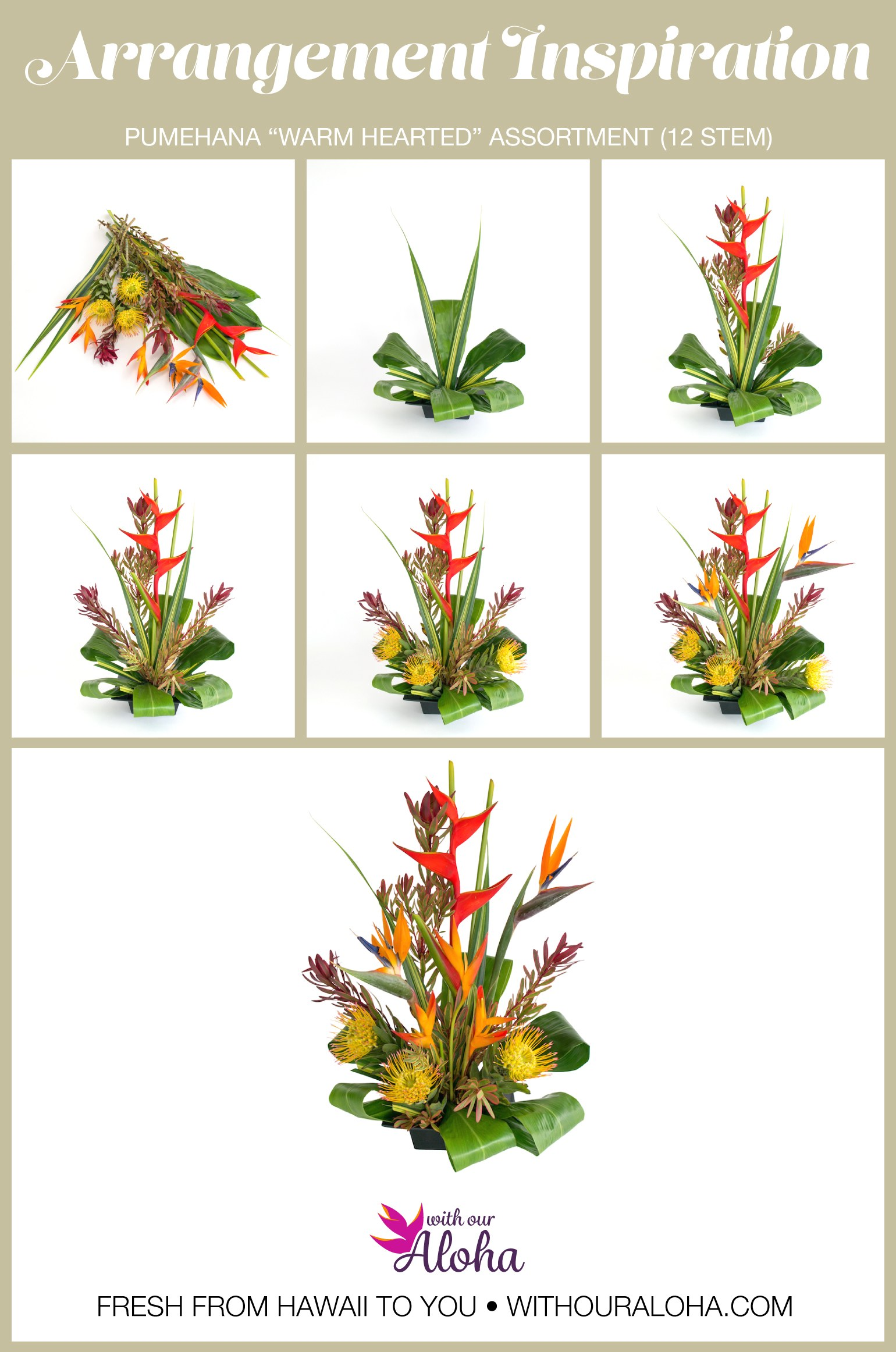 Create Hawaiian Flower Arrangement - With Our Aloha