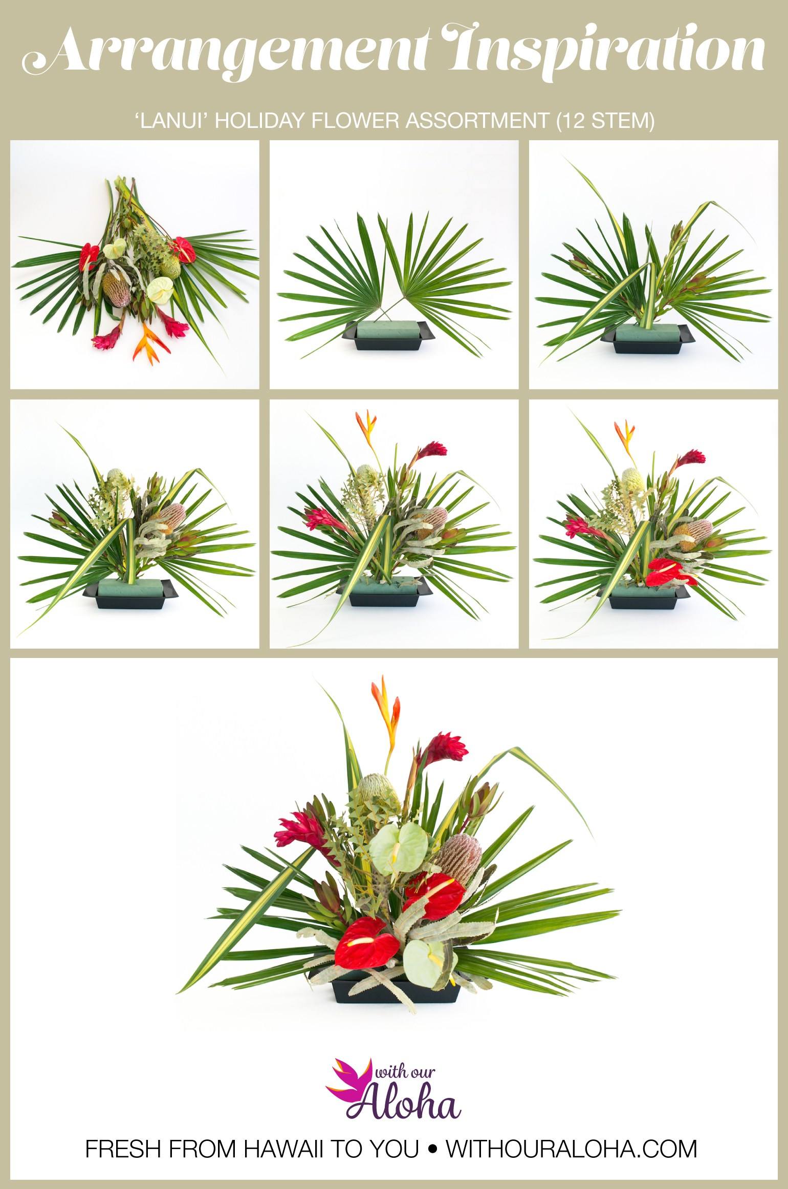Hawaiian Christmas Flowers DIY - With Our Aloha