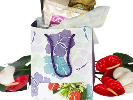 Hawaiian Gift bag hibiscus print