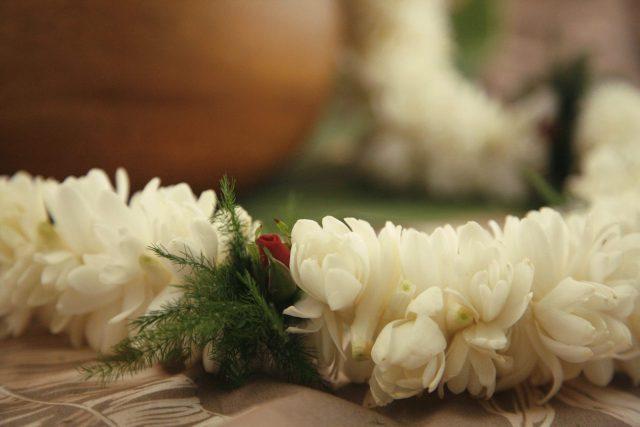 tuberose lei fragrant white double size