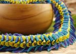 Waipio Hawaiian Lei blue and yellow
