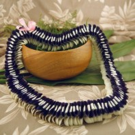 blue orchid lei Kalihi style graduation