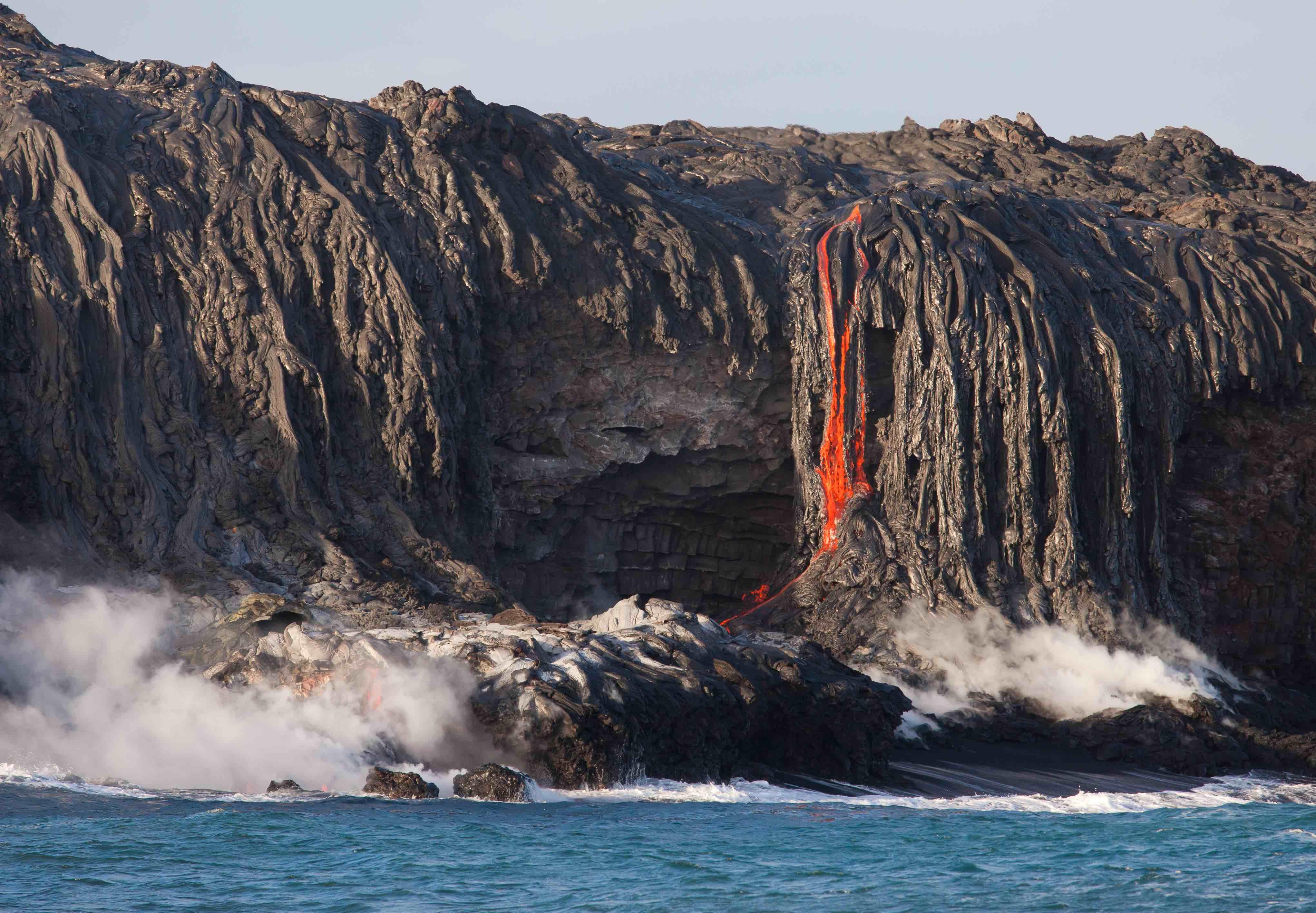 Kilauea Volcano And The Hawaiian Flower Business