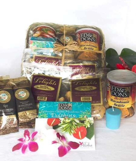 Gift Baskets from Hawaii Kona coffee, mac nuts, cookies
