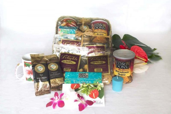Gift Baskets from Hawaii Kona coffee, mac nuts, cookies