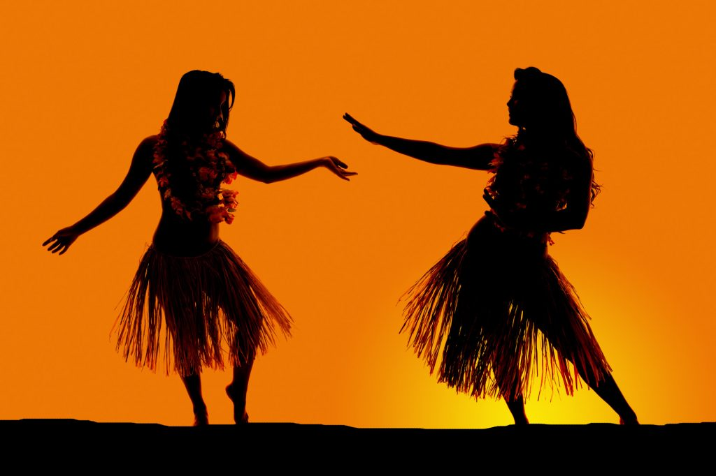 luau hula dancers